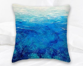 Coral Pillow | Beach Decor | Ocean Decor | Throw Pillow | Decorative Pillow | Surf Art | Surf Decor | Coral Art | Nautical Pillows | Sea Art