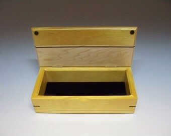 Yellowheart, Wenge &  Maple Inlay Box, Gift Idea, Best Man Gift, Small Wooden Box, Watch Box, Corporate Gift, Small Wooden Box