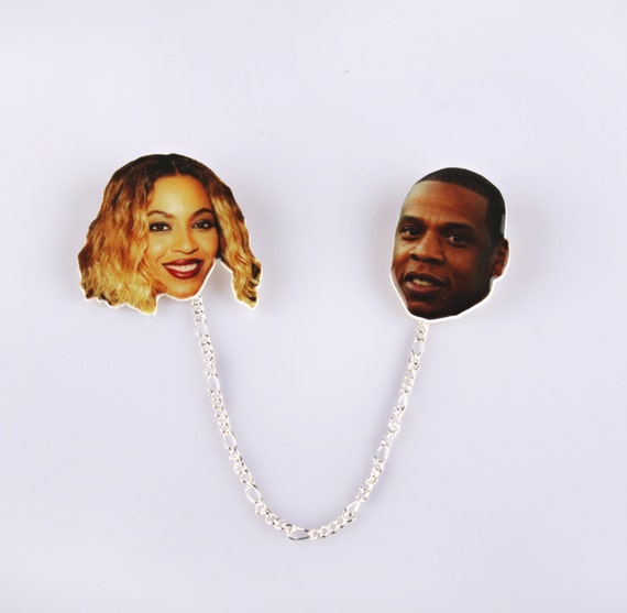 beyonce & jay-z collar clips // pinbacks