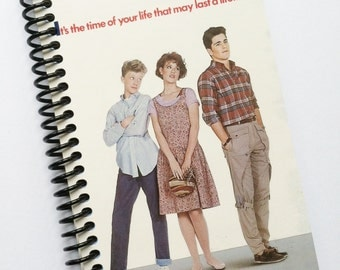 SIXTEEN CANDLES  16TH  Birthday spiral notebook journal  movie diary