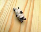 Custom pet portrait figurine. Cat or dog sculpture. Pet memorial