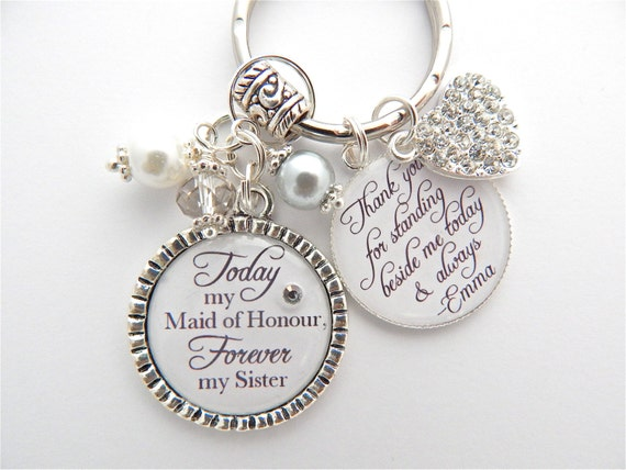 MAID of HONOR Gift Bridesmaid Gift Rehearsal Dinner Gift