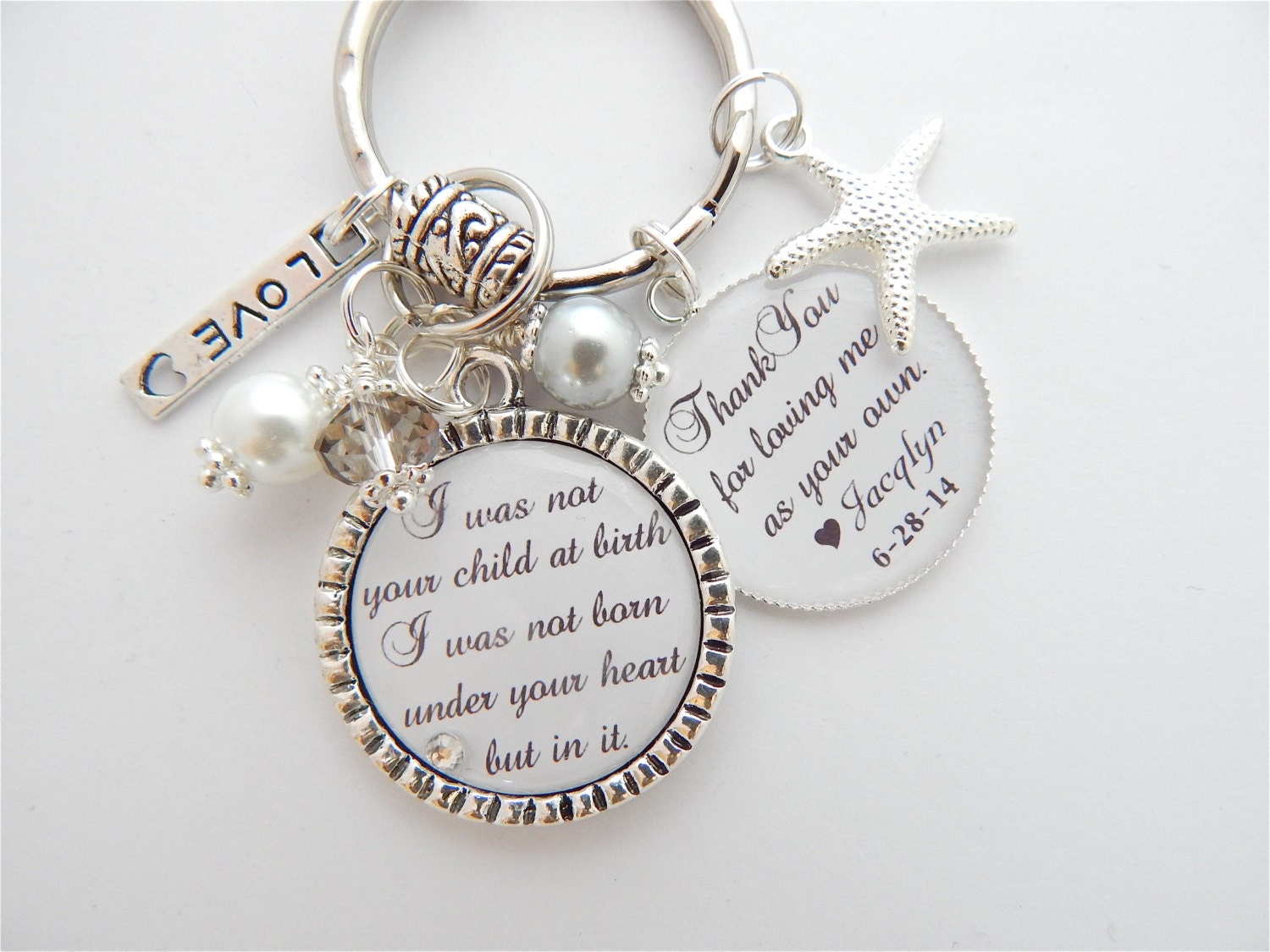 Wedding Gift For Dad And Stepmom : Step Mother Gift Step Mom Charm Necklace Personalized Wedding