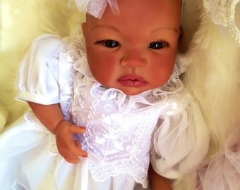 From the Biracial Shyann Kit  Reborn Baby Doll 19 inch Baby Girl Kilah Complete Baby Doll Painted Hair