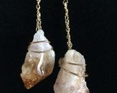 Citrine Crystal Boho Long Earrings