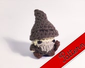 "PDF Pattern for Crocheted Lord of the Ring's Gandalf the Grey Amigurumi Kawaii Keychain Miniature Doll ""Pod People"""