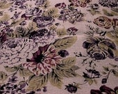 Dark Lilac Floral--Garment Weight--Linen Printed Fabric Provence style--Romantic Floral Print--Fabric for Linen Apparel--All DIY Projects