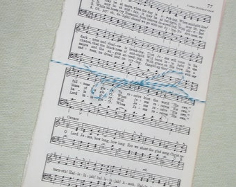Vintage Hymnal Music Paper - 35 Sheets - Ephemera for Collage, Altered Art