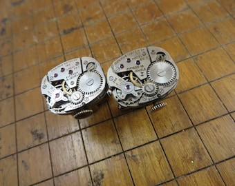Benrus BN 1 Watch Movement Cufflinks. Great for Fathers Day, Anniversary, Groomsmen or Just Because.  #276