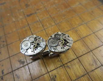 Bulova 5AB Watch Movement Cufflinks. Great for Fathers Day, Anniversary, Groomsmen or Just Because.  #334