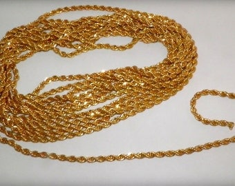 10K GF 5mm Rope Chain, 185 1/2""