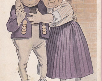 "Ca. 1912 ""Such a Lovingness"" Comical Greeting Postcard - 1608"