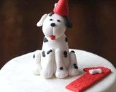 Dalmatian dog fondant cake topper - Dog Puppy Cake Fondant Cake Topper