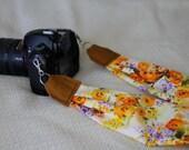 BEST SELLER - Vintage Floral Print Scarf Camera Strap