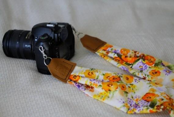 BEST SELLER Vintage Floral Print Scarf Camera Strap Cross - photo#17