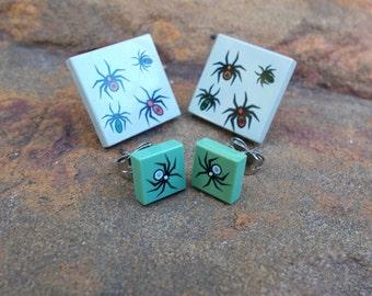 Lego Spider Stud Earrings