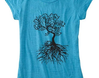 Womens Tshirt Tree Of Life T Shirt Womens Clothing Custom Hand Screen Printed Available: S M L Xl Color Options
