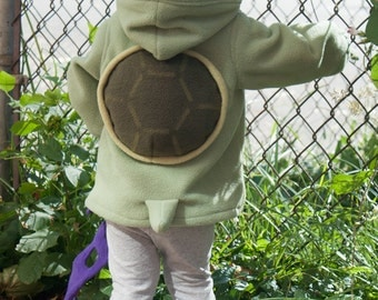 BABY & TODDLER Turtle Hoodie, Costume, Vest, Jacket, Hand-made, Cosplay