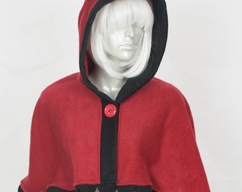 Red Wolf Capelet - Hood and Tail, Clothing, Winter Wear, Accessory