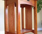 Mission Oak Night Bed Stand W/ Drawer Quarersawn Oak Free Shipping