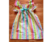 Colorful Pastel Dress with Ruffles Galore