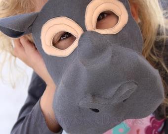 Felt Hippo Mask Pattern. Digital Pattern For Kids Hippo Costume.