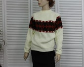 Vintage Sweater 1960s Pullover Unisex Size Small