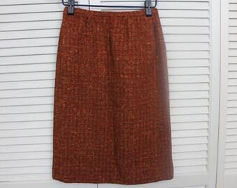Vintage 1950s Pendleton Tweed Pencil Skirt