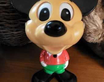 OMG! It's an Excellent Vintage 1976 Talking Mickey Mouse Toy, Hard Plastic, Moves Mouth When Speaking, STILL WORKS!