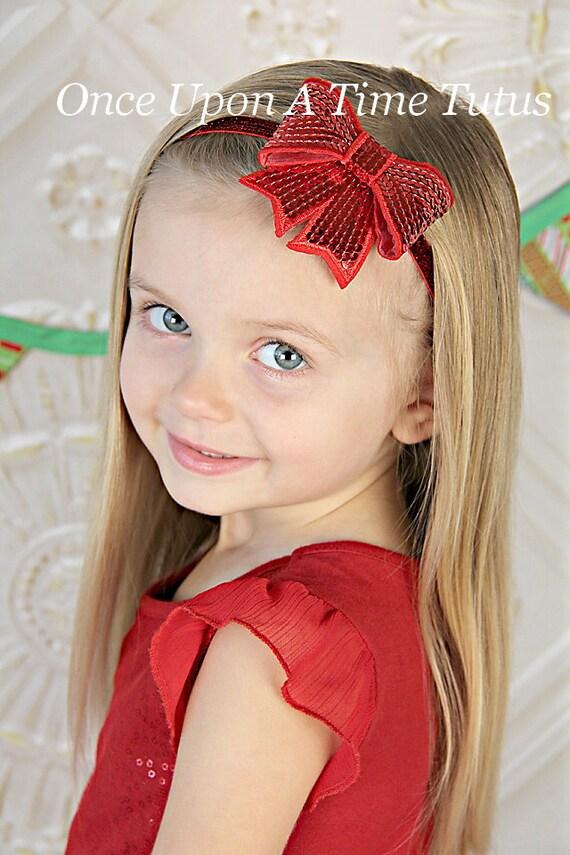 Christmas birthday photo prop newborn baby hairbow little girls
