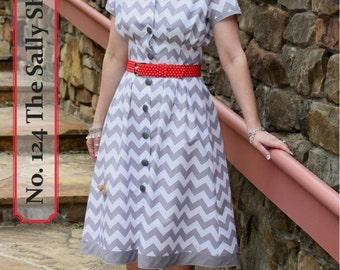 The Sally Shirtdress Sewing  Pattern by  Kay Whitt