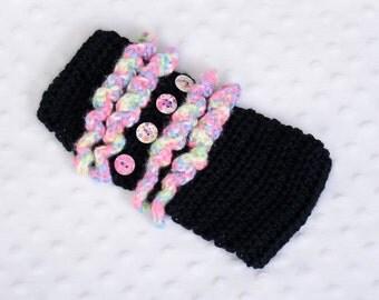 Crocheted Ruffled Earwarmer