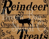 Christmas Stencil - Reindeer Treats - Various Sizes -  Christmas Stencil
