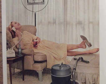 1959 COCA-COLA AD Original Vintage Kitchen Print Retro Diner Cafe Decor Ready To Frame Additional Ads Ship Free