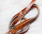 Shoulder strap/ beige leather
