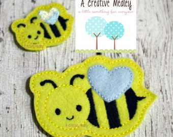 Bumble Bee feltie Embroidery design - Instant Download