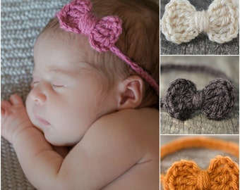 Headband Set - Newborn Headband Set - Baby Headband Set - Crochet Headband Set - Ready to Ship Headband Set - Rustic Chic Baby Headbands RTS