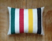 Wool Pillow - Glacier National Park - Cabin Stripes Wool - Hudson Bay