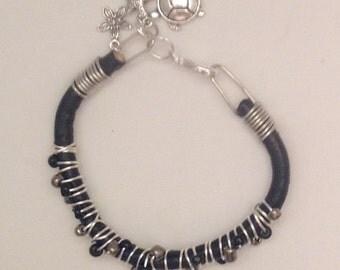 Leather Bracelet, Wire Wrapped Bracelet, Beaded Bracelet, Best Selling Jewelry, Charm Bracelet, Christmas Gift Ideas, Gift Ideas