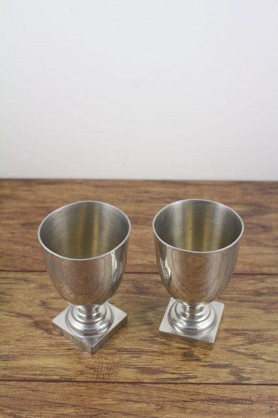 Items Similar To Pewter Goblets Set Of 2 Jefferson
