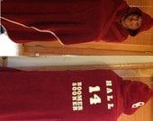 Custom Adult Sports Fan Hooded Towel - Free Personalization