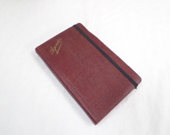 French Vintage Agenda from 1946 with it original pencil (v164)
