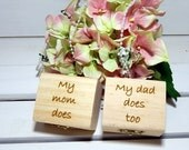 Personalized Set of TWO Ring Boxes, Ring bearer boxes, Wedding Ring Boxes