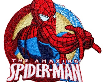 "Marvel ""The Amazing Spider-Man"" Comic Book Superhero Embroidered Iron On Applique Patch"