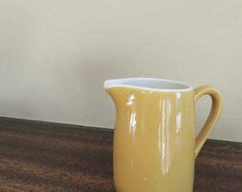 Vintage Mustard Creamer / Harvest Gold Creamer / Cream Pitcher