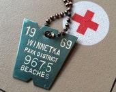 Vintage Metal Tag Keychain