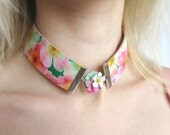 Choker Necklace Statement Collar Necklace Romantic Jewelry Polymer clay jeweley