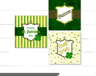 St Pattys Day Favor Tags - Gift Tags - St. Patrick's Day - Luck O' The Irish Collection - Instant Download