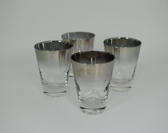 Silver Fade Juice Glasses - Set of 4