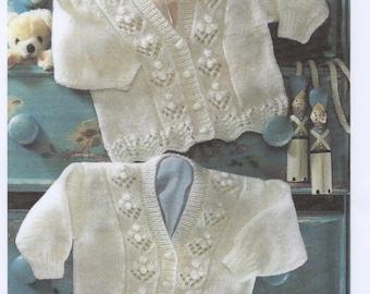 Beautiful Pdf knitting pattern Cardigan Bobble pattern design